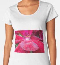 Red flower close up Women's Premium T-Shirt