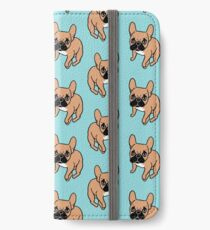 The Cute Black Mask Fawn French Bulldog Needs Some Attention iPhone Wallet/Case/Skin