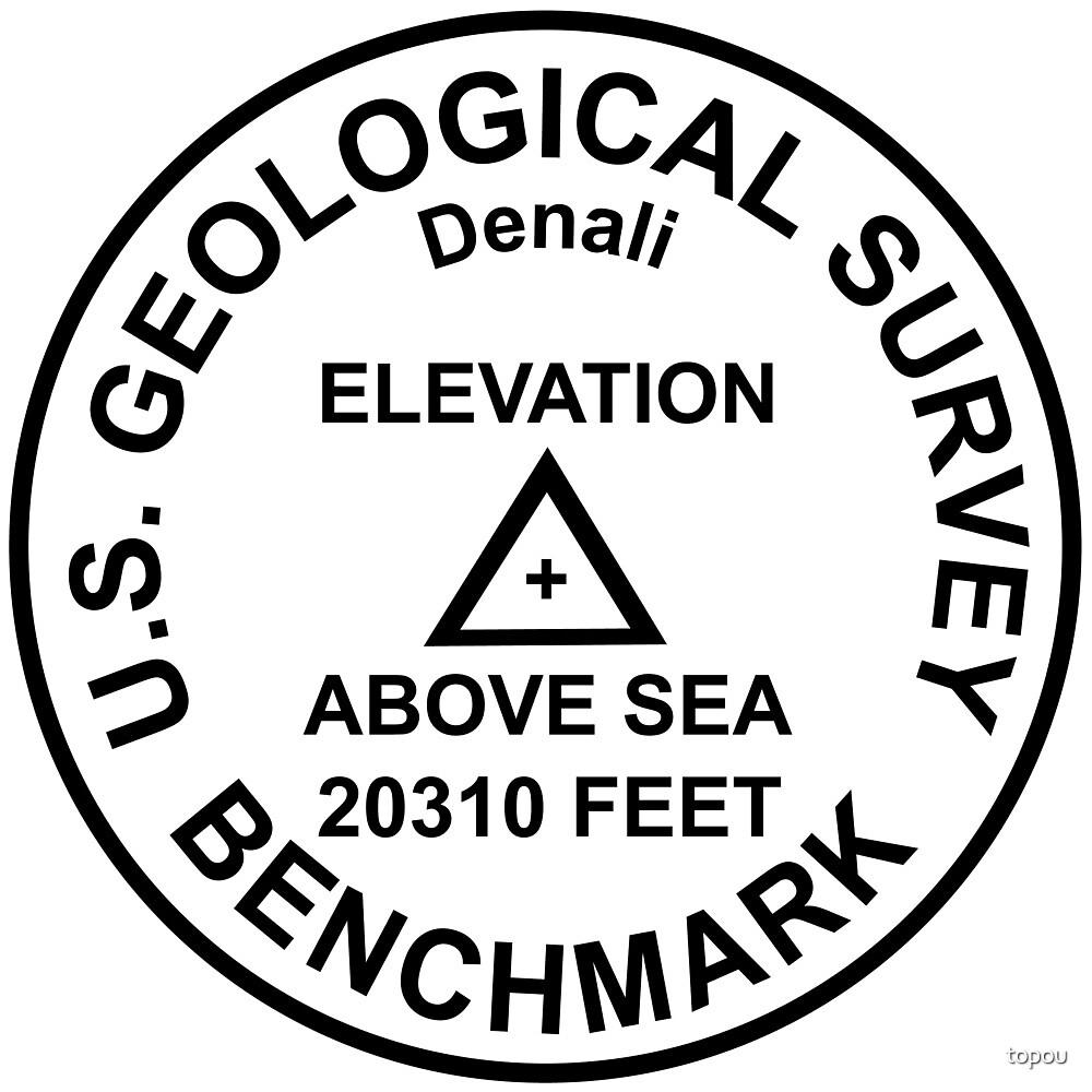 Denali, Alaska USGS Style Benchmark by topou