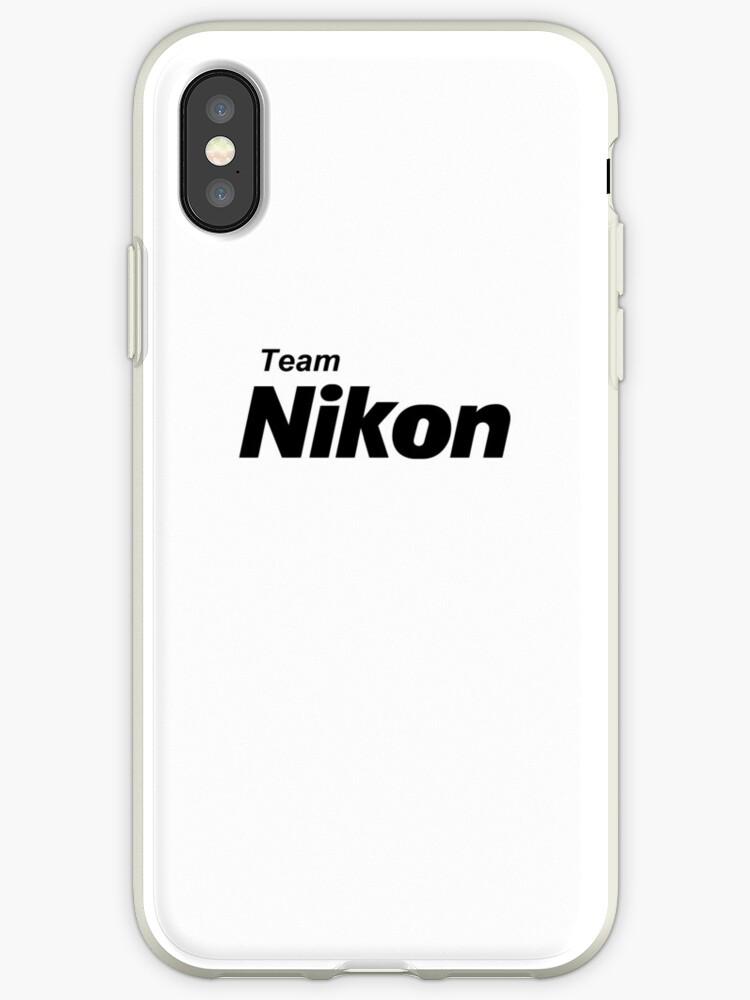 purchase cheap 35192 d45b6 'Team Nikon!' iPhone Case by poise