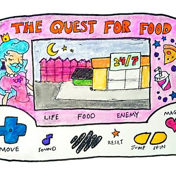 'The Quest For Food' Princess LCD Game  by davyruiz