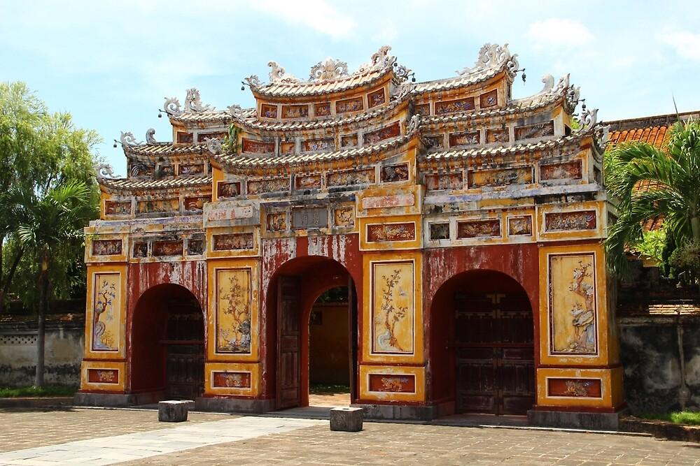 Gates of the Imperial City III - Hue, Vietnam.  by Tiffany Lenoir