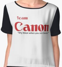 Team Canon! - why nikon when you can CANON. Women's Chiffon Top
