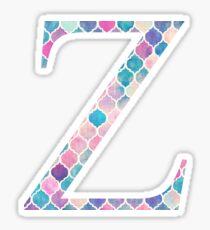 Zeta Z Watercolor Mosaic Sticker