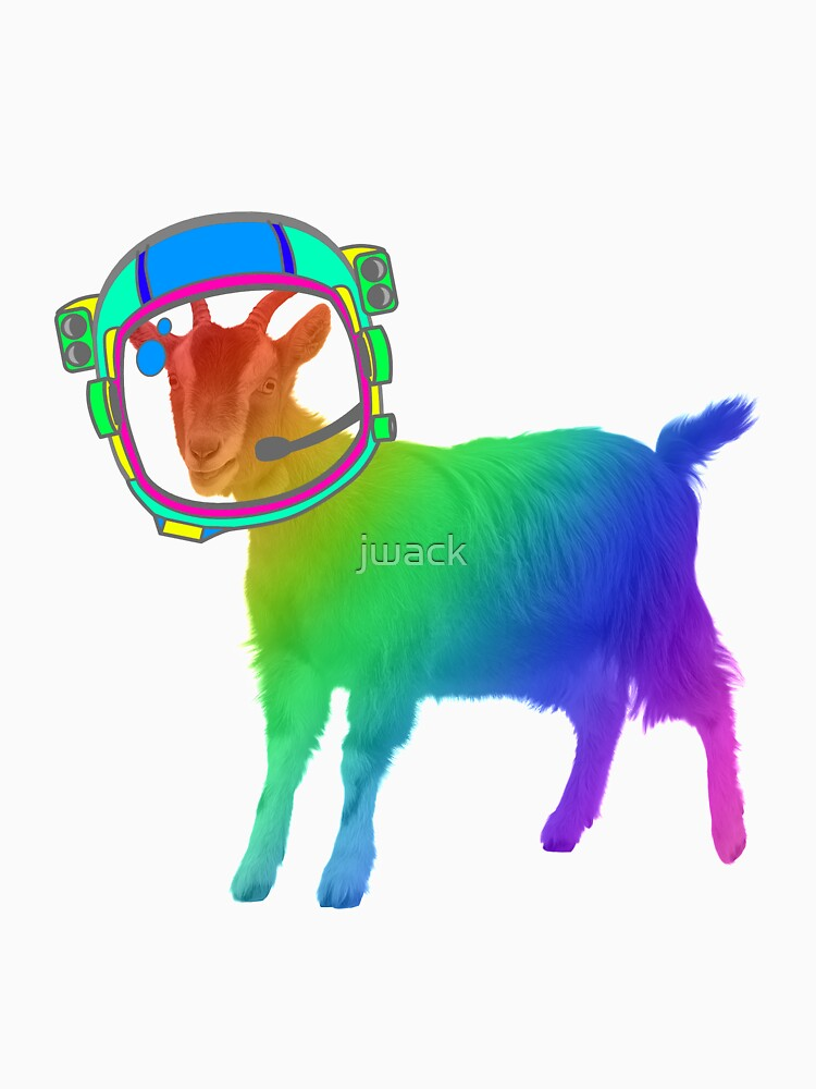 Rainbow Astronaut Goat in Space by jwack