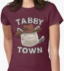 Tabby Town Womens Fitted T-Shirt