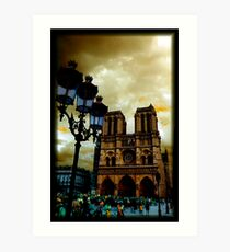 Notre Dame Cathedral Stands Strong Art Print
