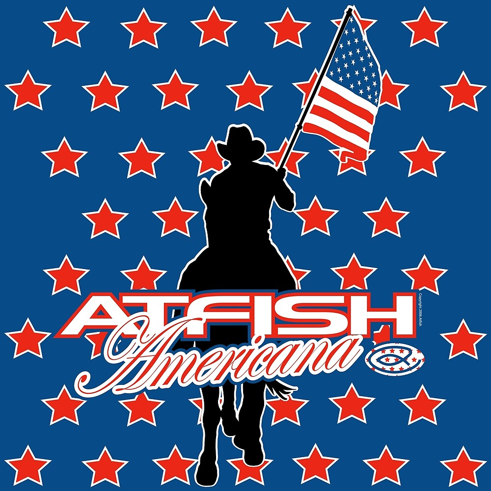 Atfish Americana - Cowboy by TheArtistGrimm