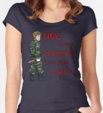 Hey, Can I Borrow You For A Sec..? Women's Fitted Scoop T-Shirt