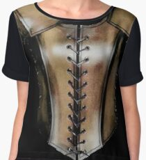 Leather jerkin (female) Chiffon Top