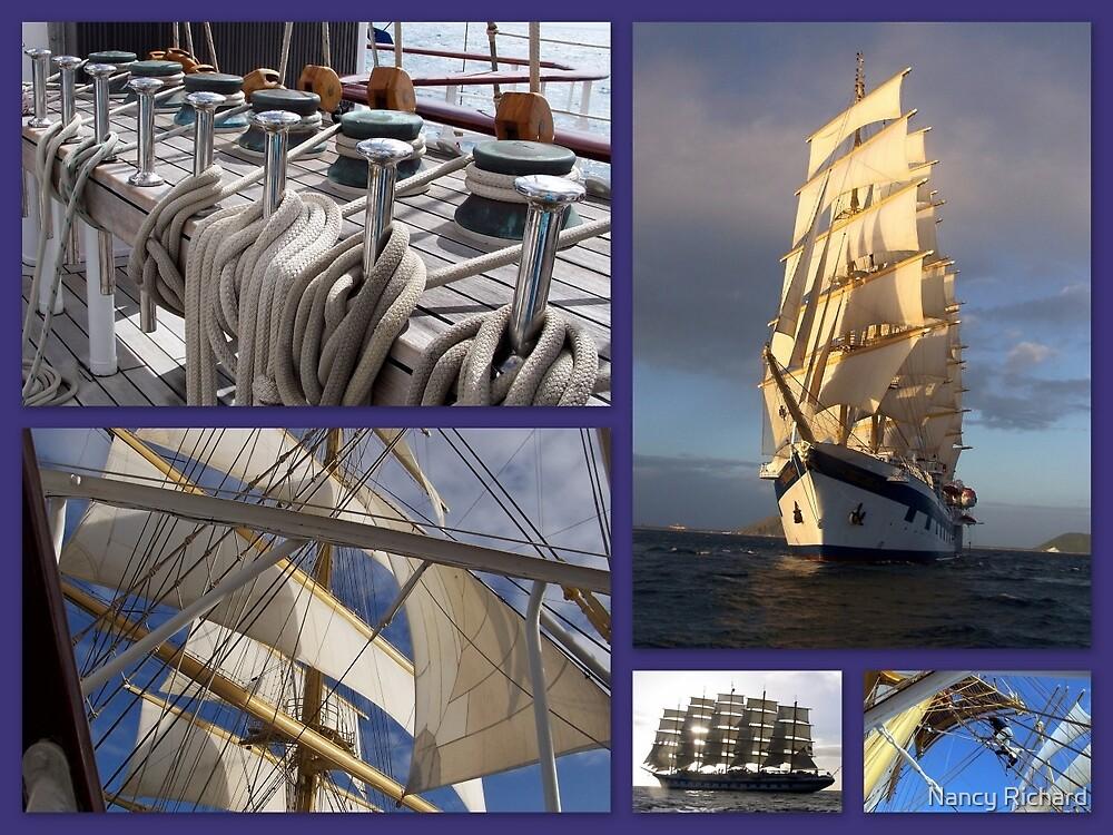 Sailing collage by Nancy Richard