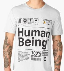 Human Being Science Ingredients tshirts Men's Premium T-Shirt