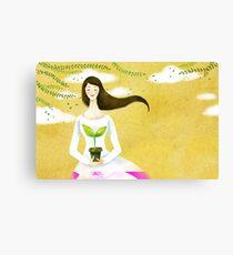 Wind Girl Canvas Print