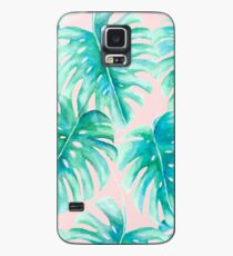 Paradise Palms Blush Case/Skin for Samsung Galaxy