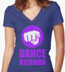 Dance Kizomba - Logo pink Women's Fitted V-Neck T-Shirt