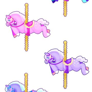 Carousel Horses by pratt-face