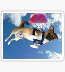 Dog Parachuting  Sticker