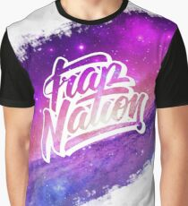 Trap Nation Faded Space White Graphic T-Shirt