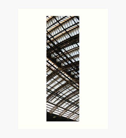 railway station roof  Art Print