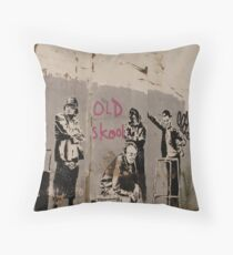 Old Skool - Banksy Throw Pillow