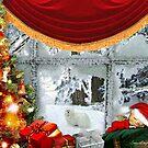 Snowdrop the Maltese & Santa's Elf by Morag Bates