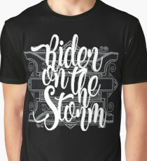 Rider On The Storm Dark Style Rock Music Lettering Cool Vintage T-Shirts Design Graphic T-Shirt