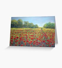 Poppies, Poppies, Poppies!! Greeting Card
