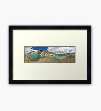 emerald lakes Framed Print