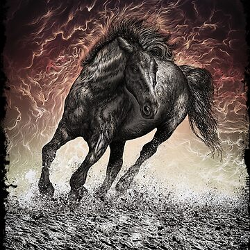 horse in storm by fazlicakir