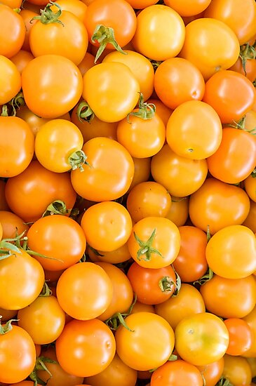 Orange Cherry Tomatoes at the Market by Zigzagmtart