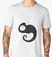 Minimal Black Chameleon Cute Men's Premium T-Shirt