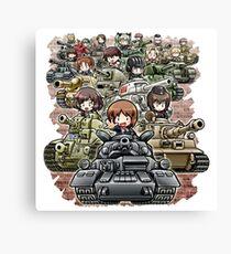 Girls und Panzer Crew Canvas Print