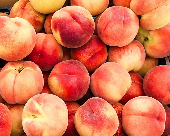 White peaches at the Market by Zigzagmtart