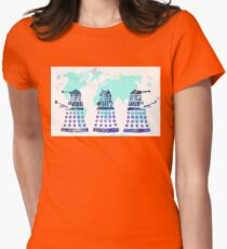 Daleks taking over! Womens Fitted T-Shirt