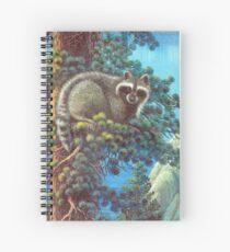 Treed Raccoon Lake Tahoe  Spiral Notebook
