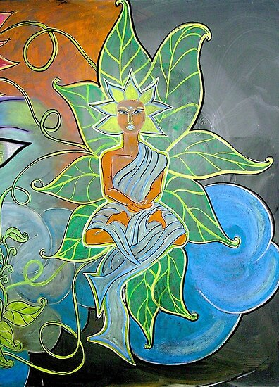 Internal Foliage (From Chalk Meditation #12)  December 2006 by Shining Light Creations