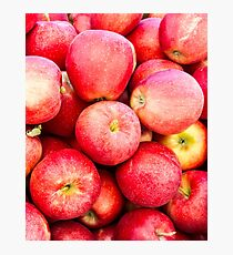 Red Gala apples at the market Photographic Print