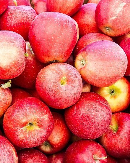 Red Gala apples at the market by Zigzagmtart