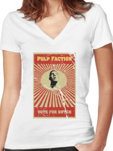 Pulp Faction - Butch Women's Fitted V-Neck T-Shirt
