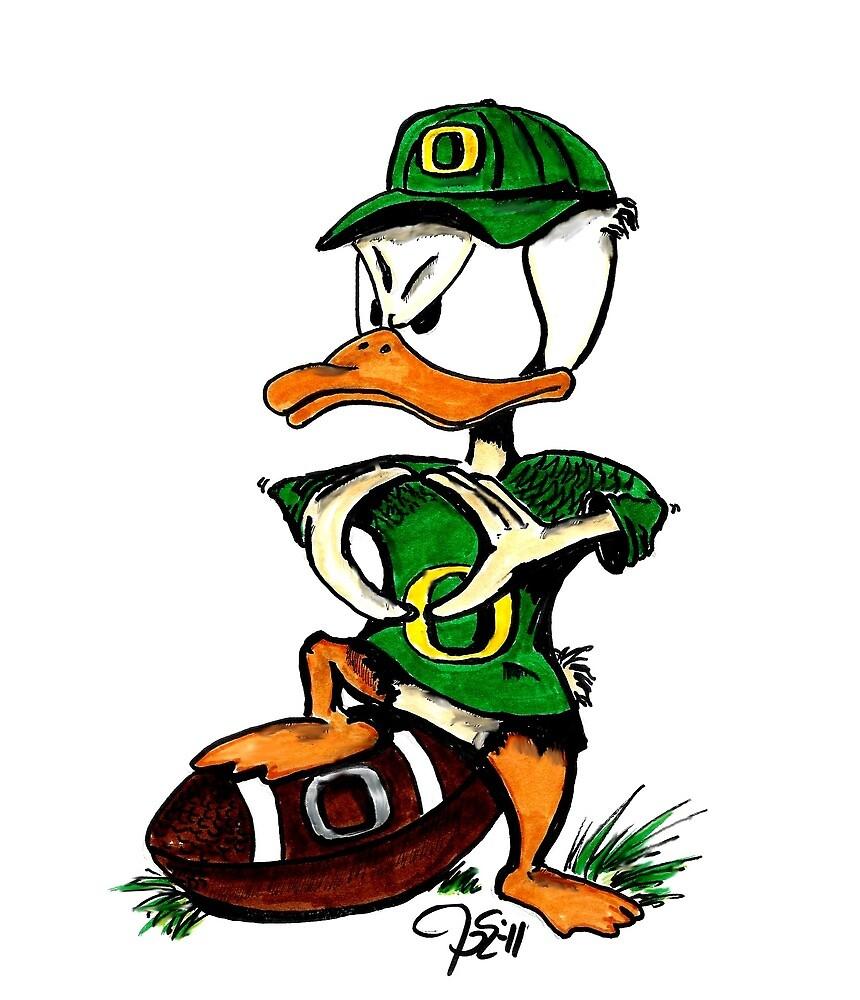 Oregon U of O Duck Making 'O' with Wings by gameforu