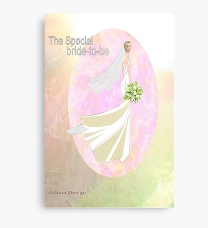 Bride to be  & flowers (5064 views) Metal Print