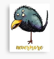 Creepy crow - Nevermore Canvas Print