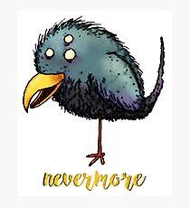 Creepy crow - Nevermore Photographic Print