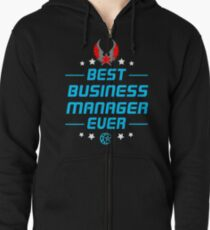 business manager - solve and travel design Zipped Hoodie