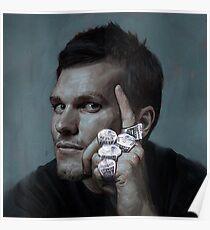 Tom Brady 5 Rings Poster