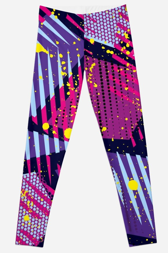 Fun 80s Retro Purple & Pink Party Pattern by irondiscipline