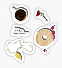 Twin Peaks in Objects Sticker