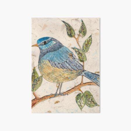 The Blue Bird Art Board Print