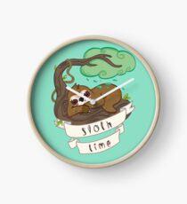 Be lazy Be Sloth ! Clock