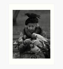 Bird Lady of Central Park NYC Art Print
